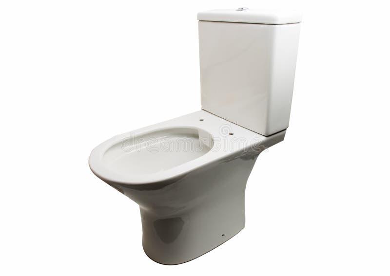 White toilet bowl isolated. On white background stock photos