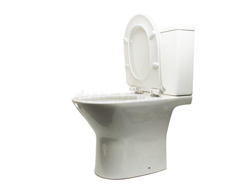 White toilet bowl isolated. On white background stock photography