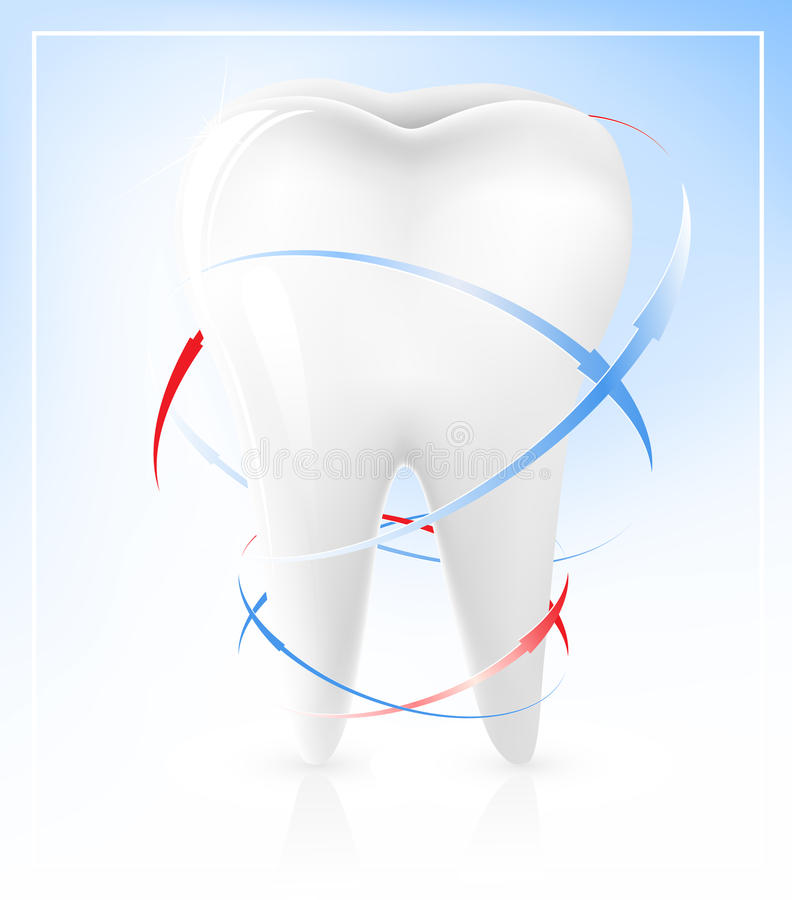 White Tooth Royalty Free Stock Photography