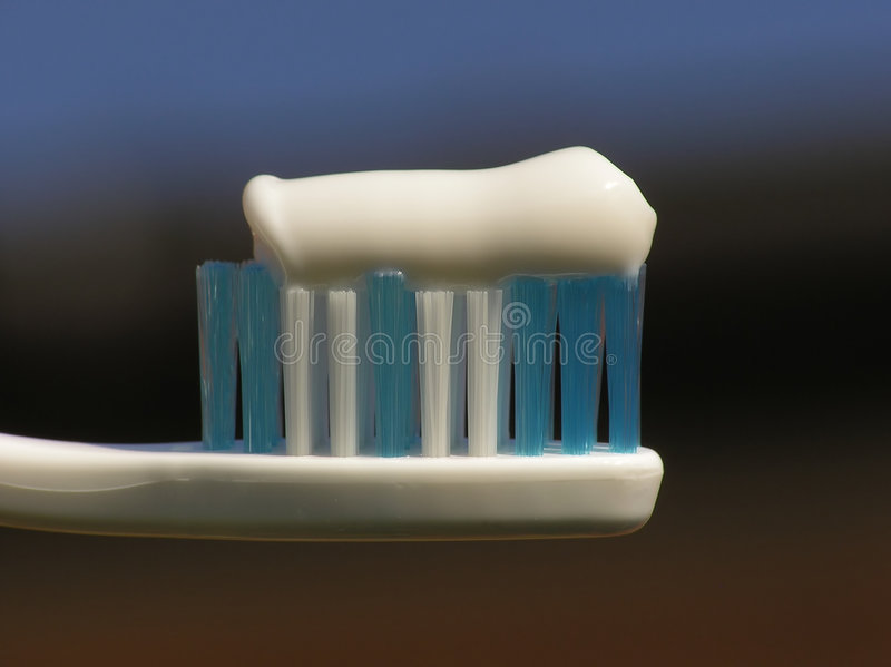 White toothbrush stock photography