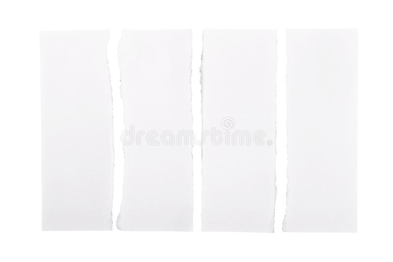 Download White Torn Paper Strips stock image. Image of open, page - 31140549