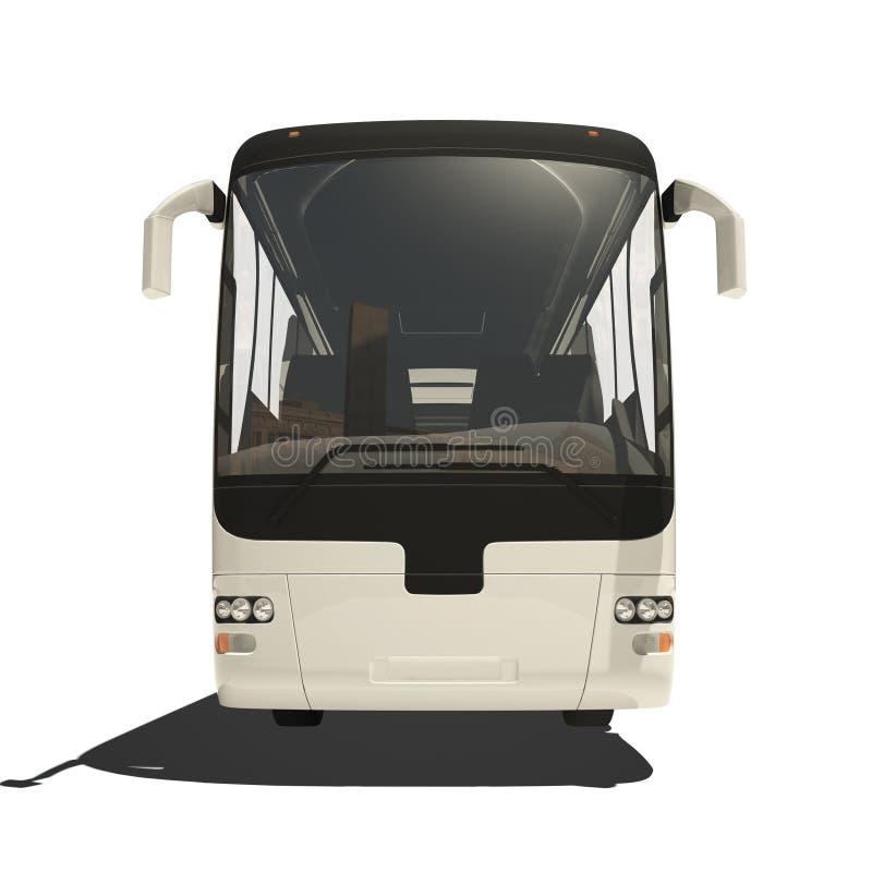 White tourist bus isolated stock illustration