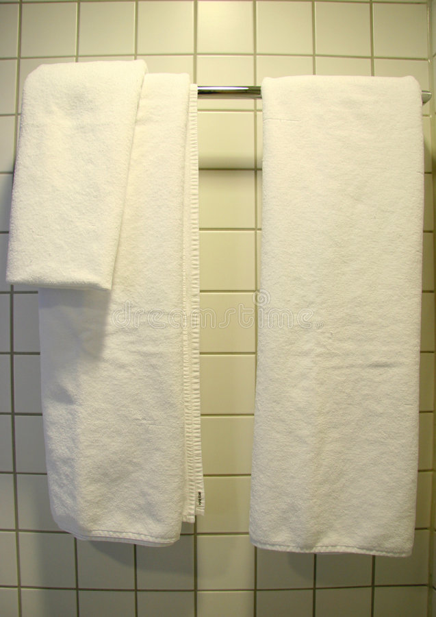 White Towel, Bathroom royalty free stock images