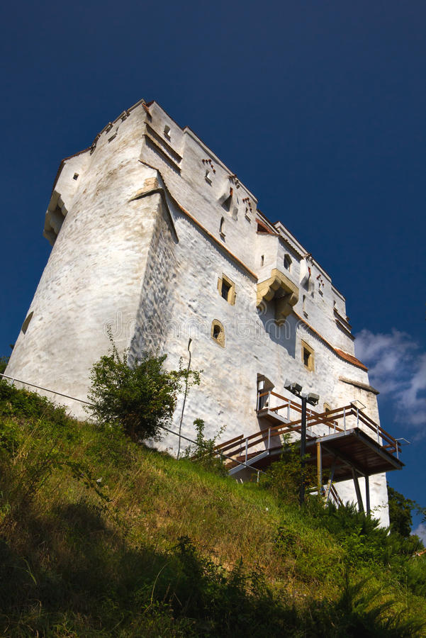 White Tower - Brasov. Medieval defence and watch tower in the historic mountain city of Brasov in Transylvania Romania stock images
