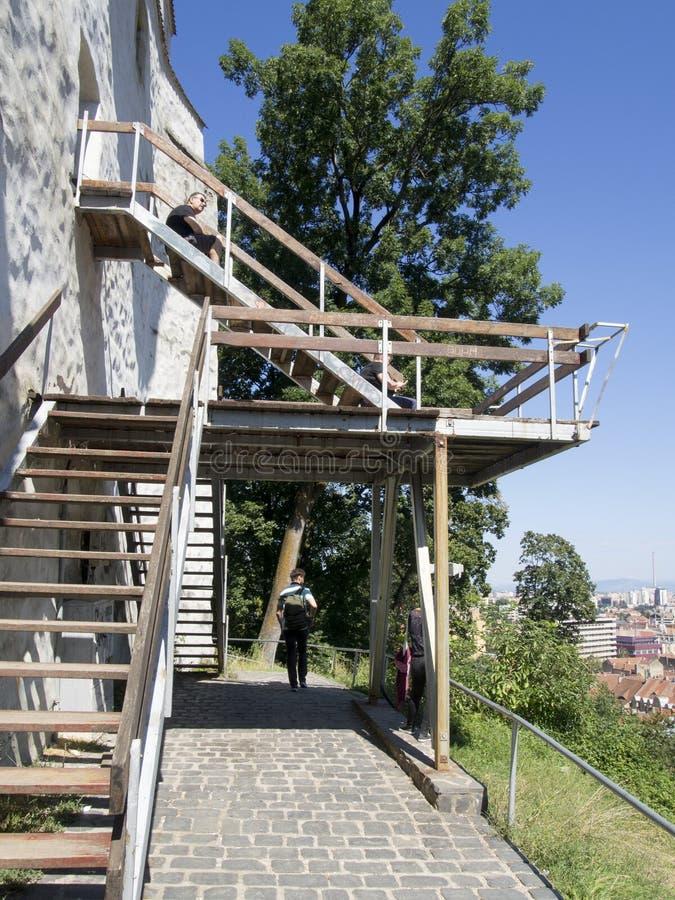 White Tower, Brasov royalty free stock photo