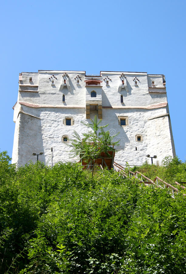 The white Tower from Brasov royalty free stock photo