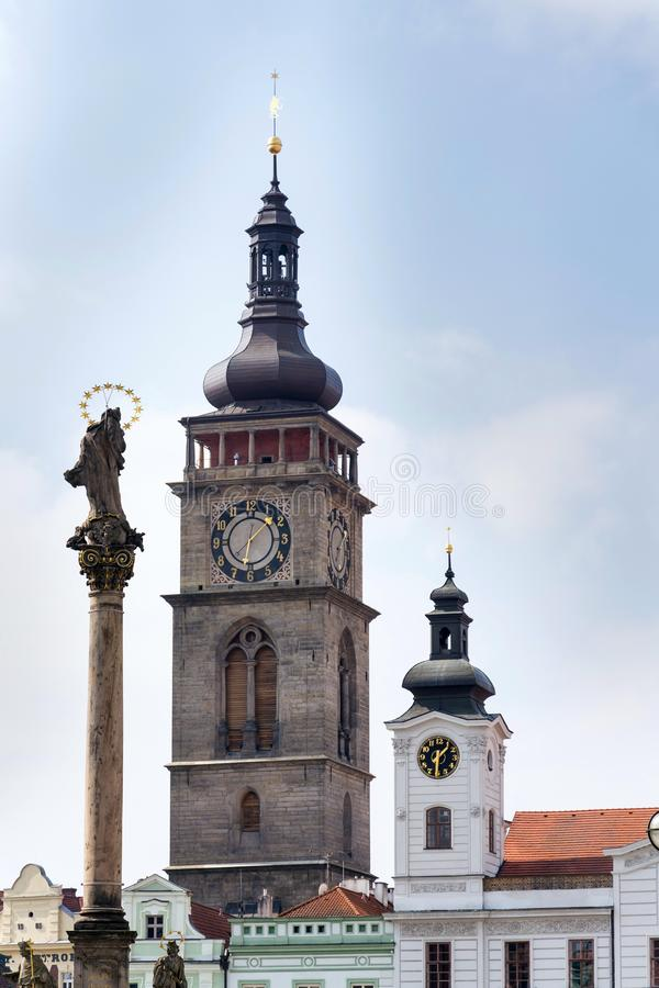 The White Tower on the Great Square, Hradec Kralove, Great Square. Czech Republic stock photography
