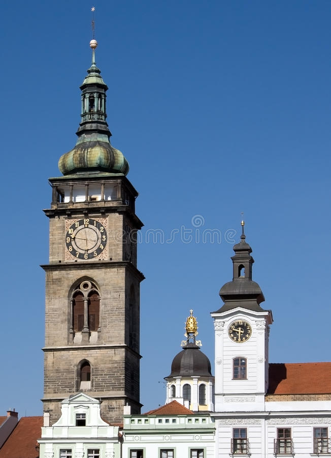The White Tower - Hradec Kralove. The White Tower located in the historical centre of the town Hradec Kralove on the Velke (Big) square, Czech Republic royalty free stock photos