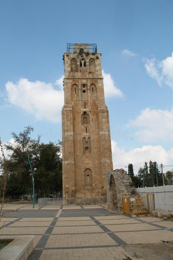 The White Tower, Ramla, Israël royalty-vrije stock foto's