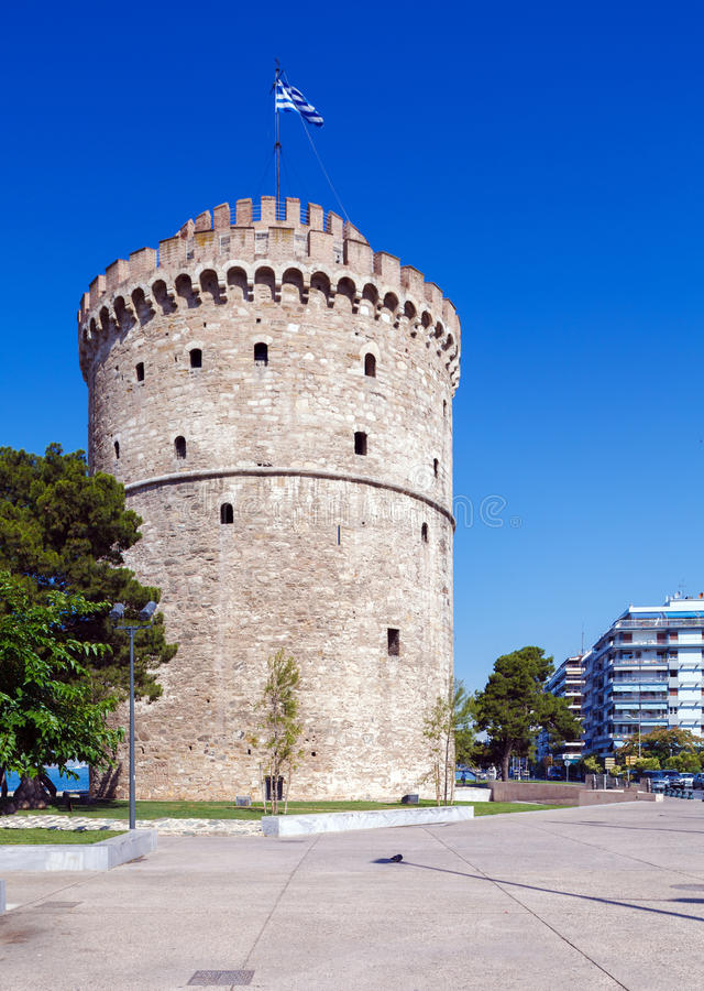 White Tower - Symbol of City, Thessaloniki royalty free stock photography
