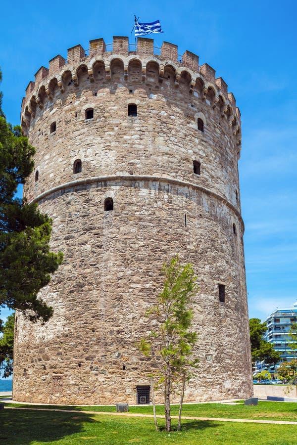 White Tower - Symbol of City, Thessaloniki stock photography