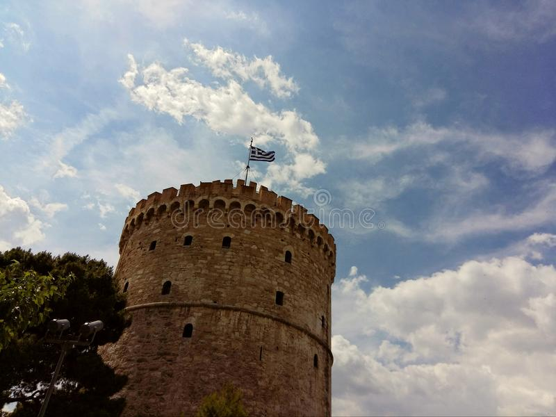 The white Tower Thessaloniki, Macedonia, Greece stock photography