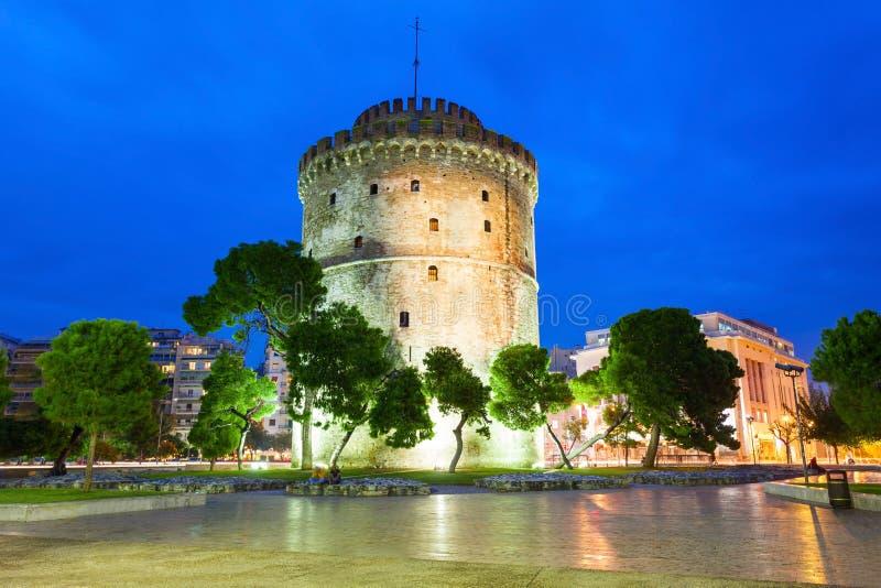 White Tower of Thessaloniki stock photo