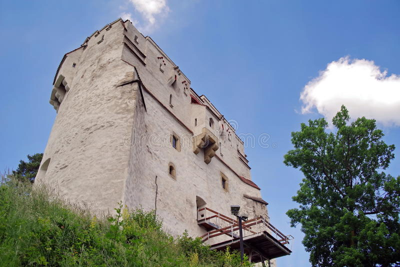 Landmark attraction in Brasov, Romania. White Tower stock image