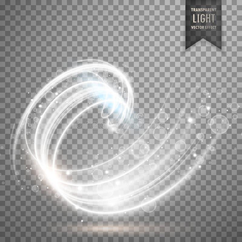 white transparent swirl light effect background royalty free illustration