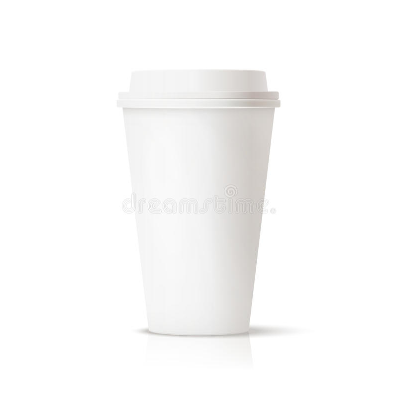 White travel mug royalty free stock photo
