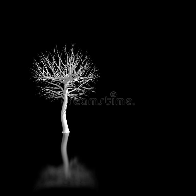 White tree stock illustration