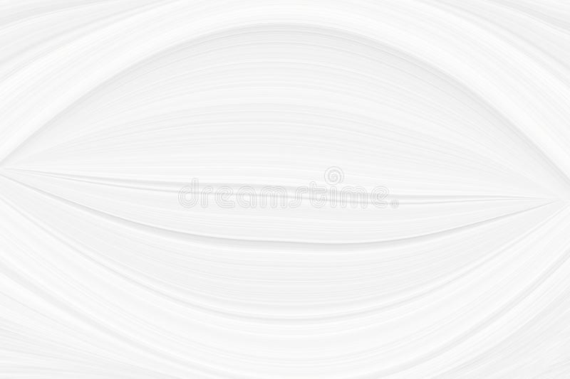 White trendy background with a smooth bend of lines and cosmic waves, illustration for a modern beautiful design. Texture of festive gray sparkles, a pattern royalty free stock image