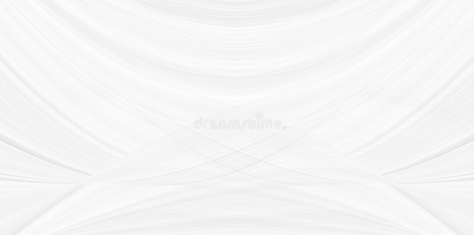 White trendy background with a smooth bend of lines and cosmic waves, illustration for a modern beautiful design. Texture of festive gray sparkles, a pattern stock images