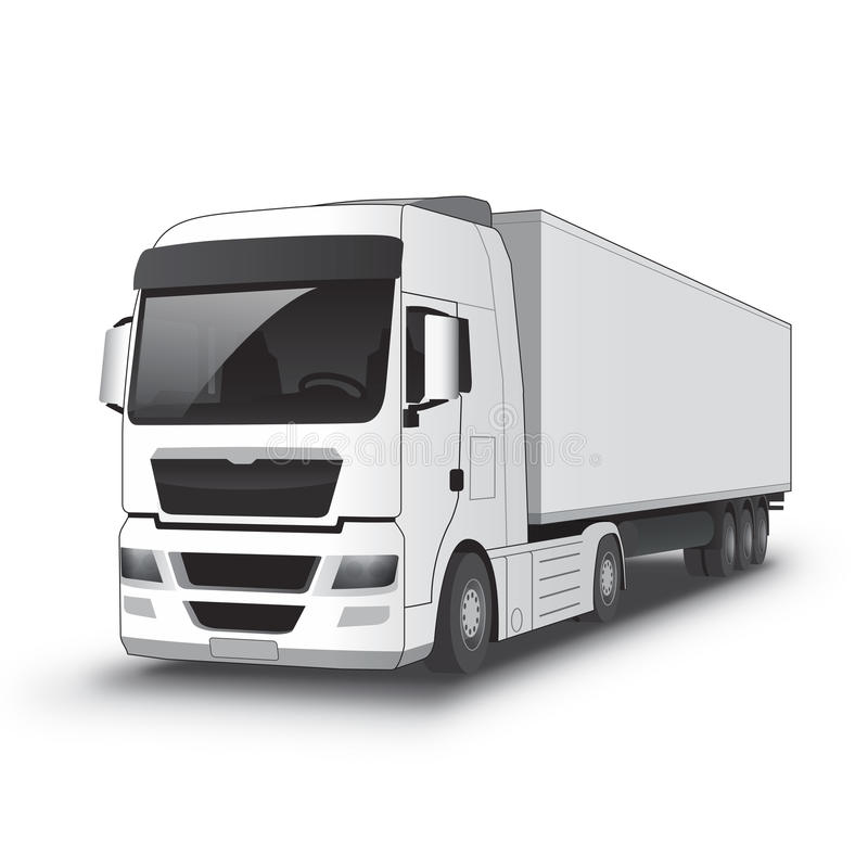 White Truck royalty free illustration