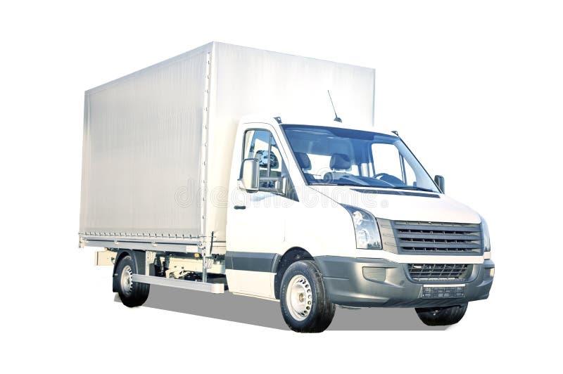 White Truck Isolated stock photo