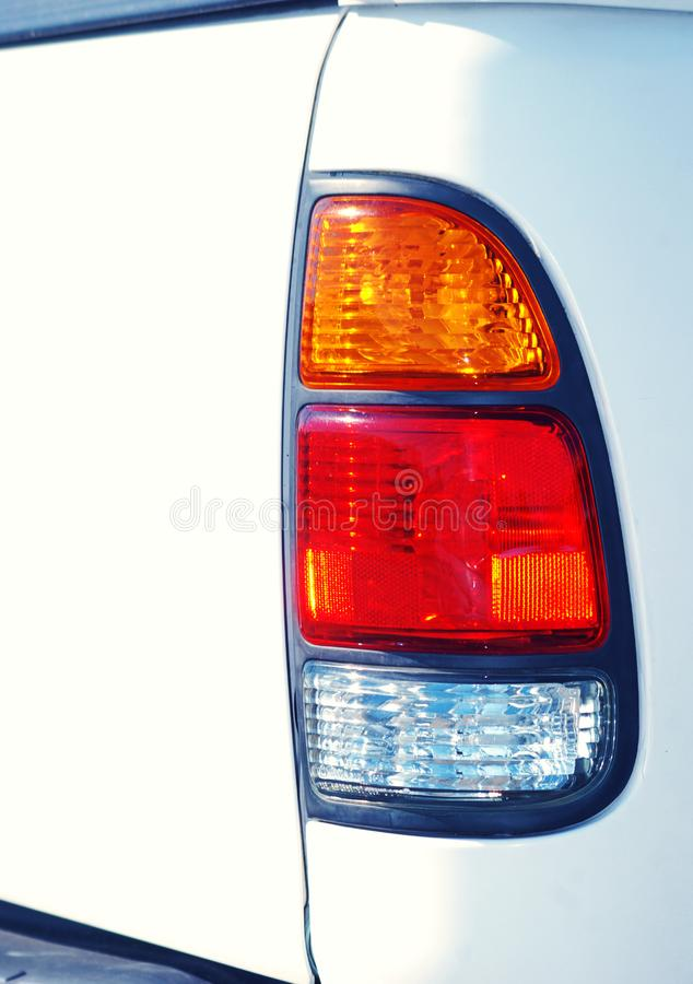 White Truck Tail Light royalty free stock photos