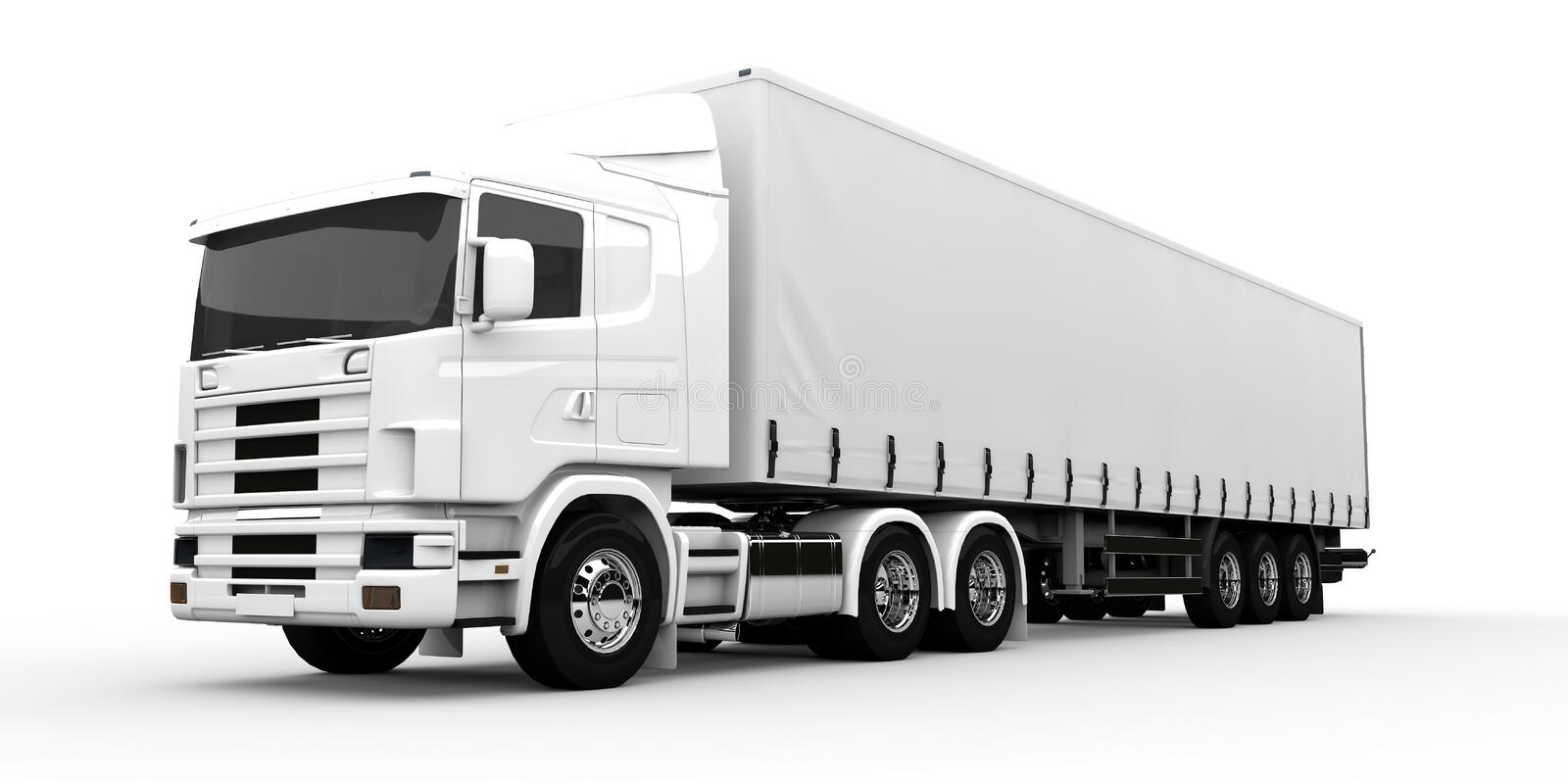 Download White truck stock illustration. Illustration of delivery - 36984158