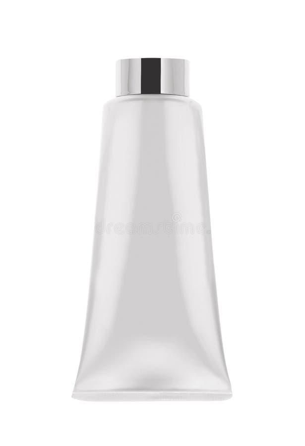 White tube mock-up for cream stock photo