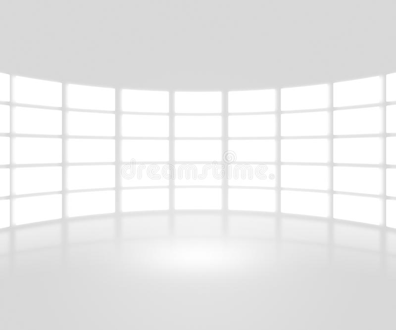 White TV Show Stage Backdrop royalty free illustration