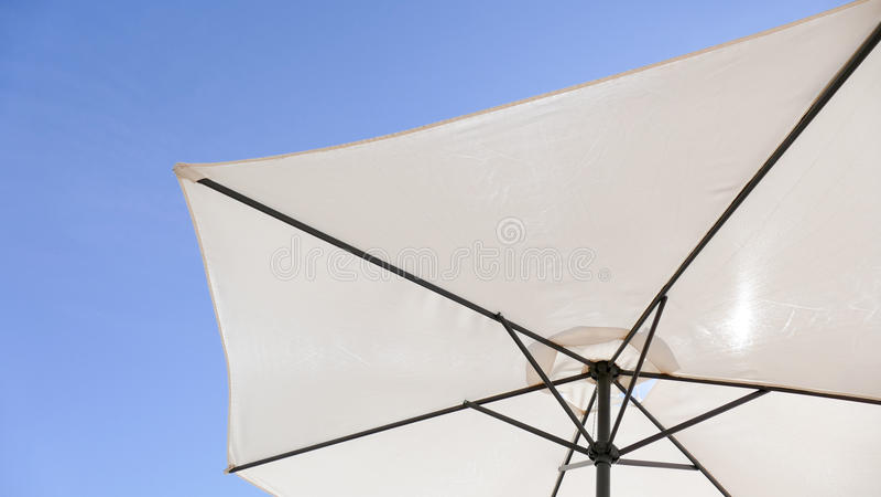 White Umbrella background stock images