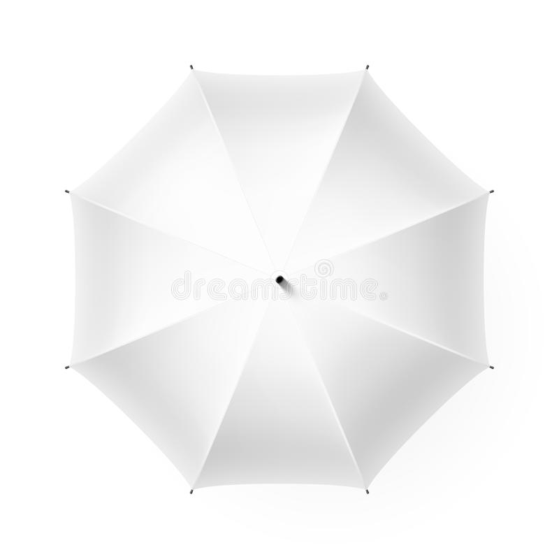 White umbrella stock illustration