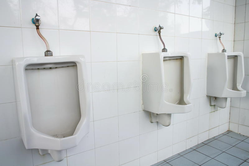 White Urinals Stock Photography