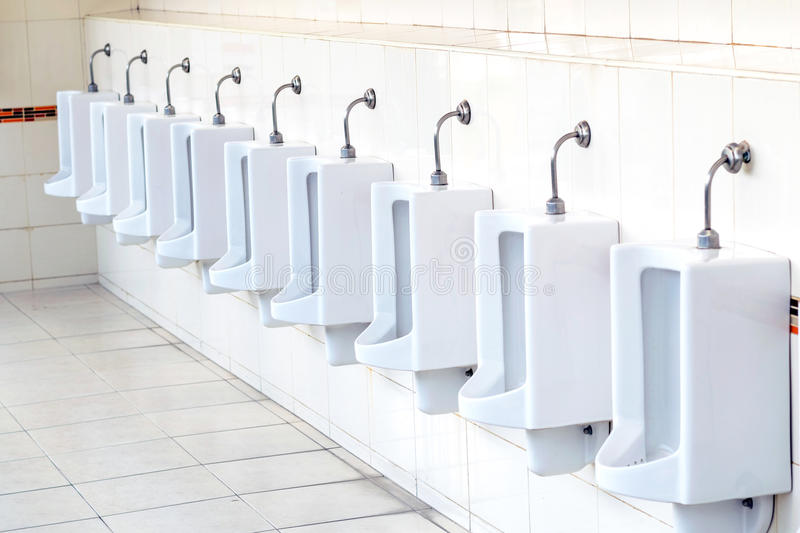 Delicieux Download White Urinals In Menu0027s Bathroom. Stock Photo   Image Of Decor,  Bathroom: