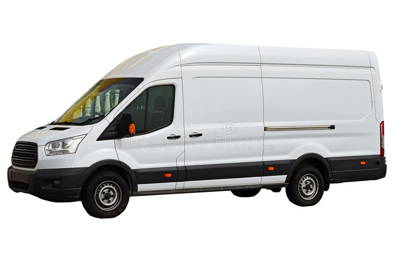 A White Van .Isolated With PNG File Included royalty free stock image
