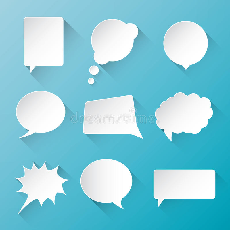 Free White Vector Communication Speech Bubble Clouds Wi Royalty Free Stock Photo - 41528105