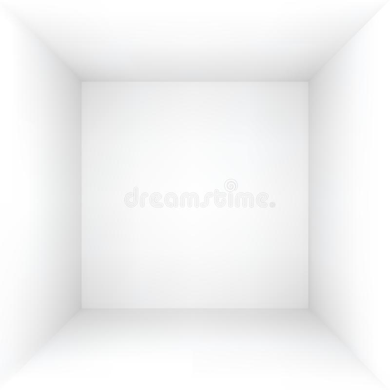 White vector empty box or room. White empty box or room, vector illustration royalty free illustration