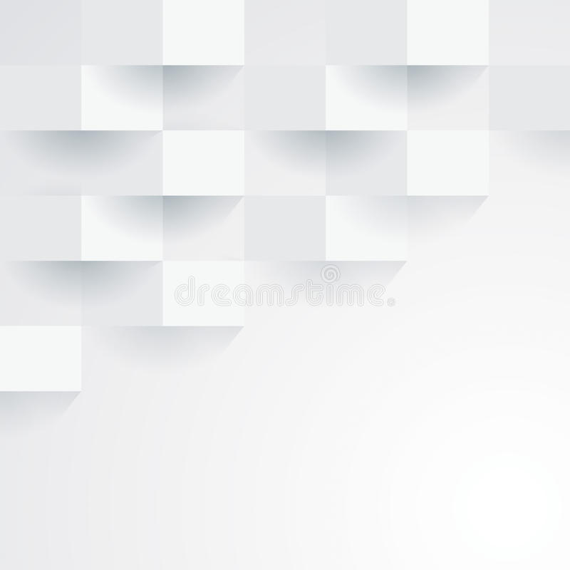 Free White Vector Geometric Background. Royalty Free Stock Photo - 38926475