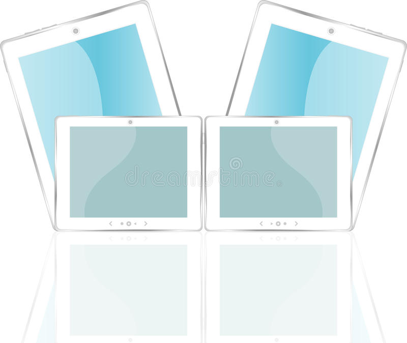 Download White Vector Tablet Pc With Blue Screen Stock Vector - Image: 24558301