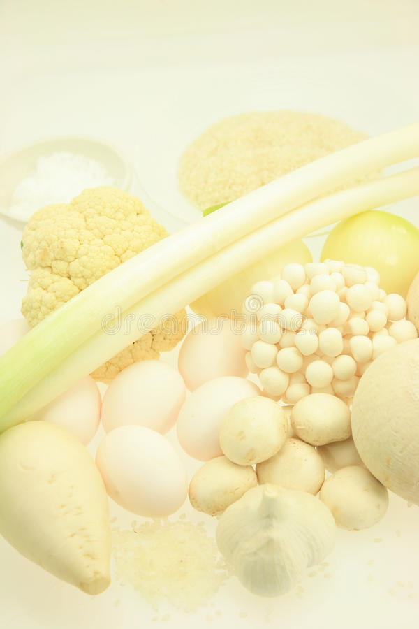 White vegetables stock photography