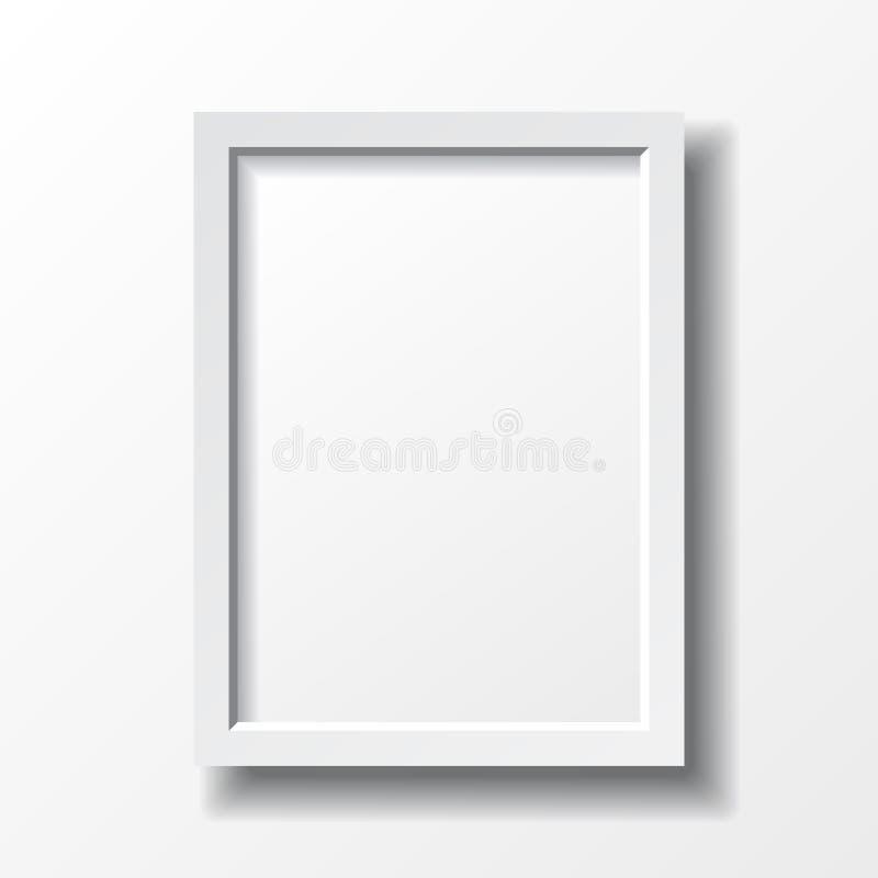 White vertical frame stock vector. Illustration of interior - 57350754