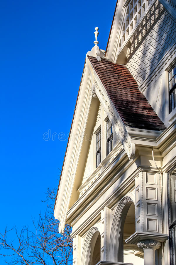 Free White Victorian House Detail. Stock Photos - 58007843