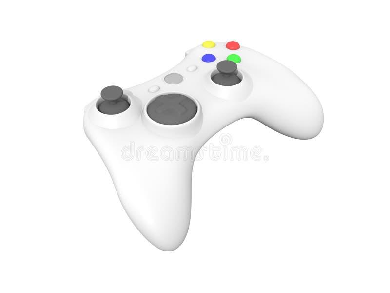 White Video Game Controller on White. 3D Rendered Isolated White Wireless Video Game Controller vector illustration