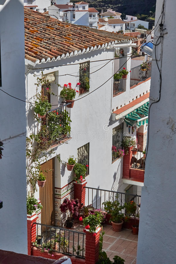 White Village of Almachar in Malaga, Spain. Almachar is a town and municipality in the province of Málaga, part of the autonomous community of Andalusia in royalty free stock image