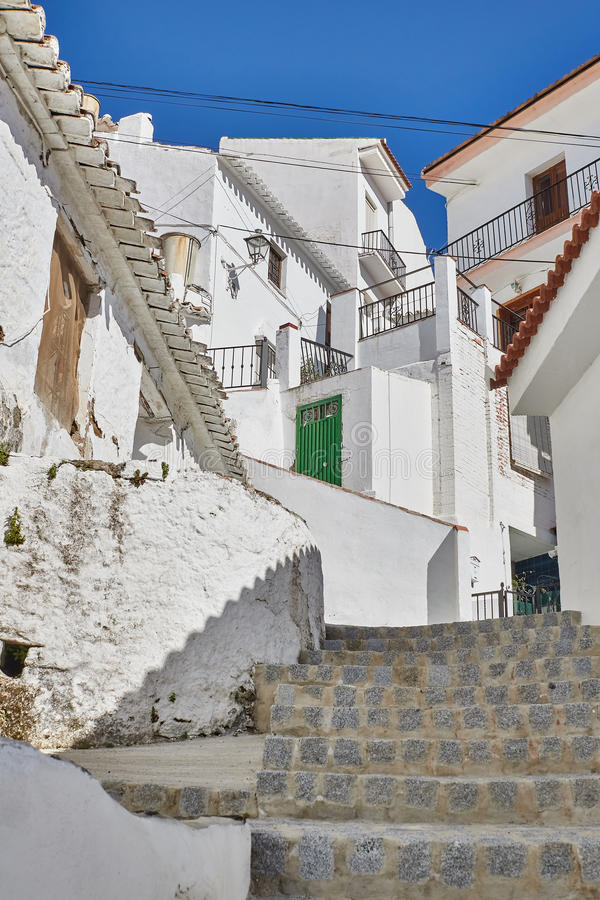 White Village of Almachar in Malaga, Spain. Almachar is a town and municipality in the province of Málaga, part of the autonomous community of Andalusia in stock images