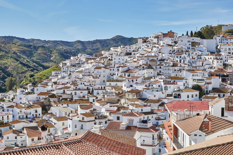 White Village of Almachar in Malaga, Spain. Almachar is a town and municipality in the province of Málaga, part of the autonomous community of Andalusia in royalty free stock photography