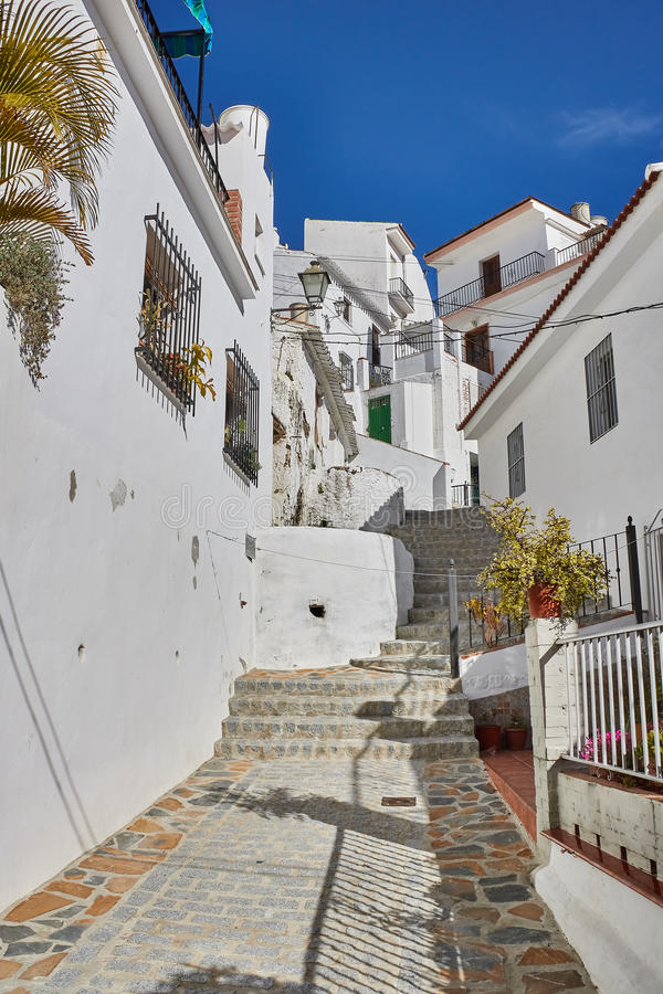 White Village of Almachar in Malaga, Spain. Almachar is a town and municipality in the province of Málaga, part of the autonomous community of Andalusia in stock photos