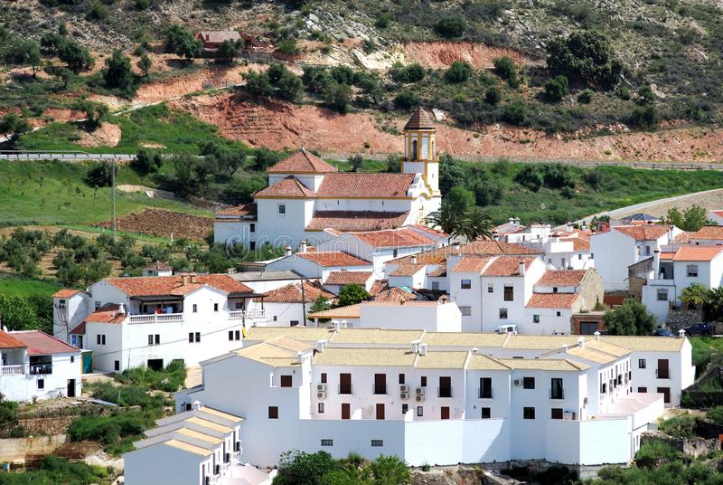 White village, Atajate, Spain. stock photo