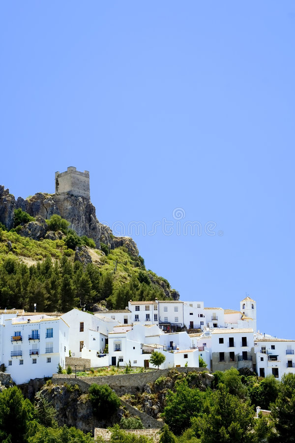 White Village in Spain royalty free stock photography