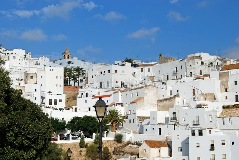White village, Vejer de la Fronter. royalty free stock photos