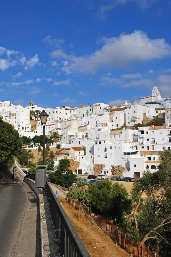 White village, Vejer de la Fronter. royalty free stock images